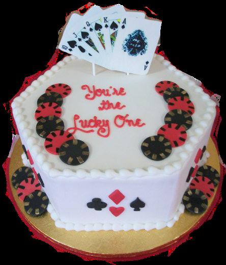 Lucky One Poker Cake