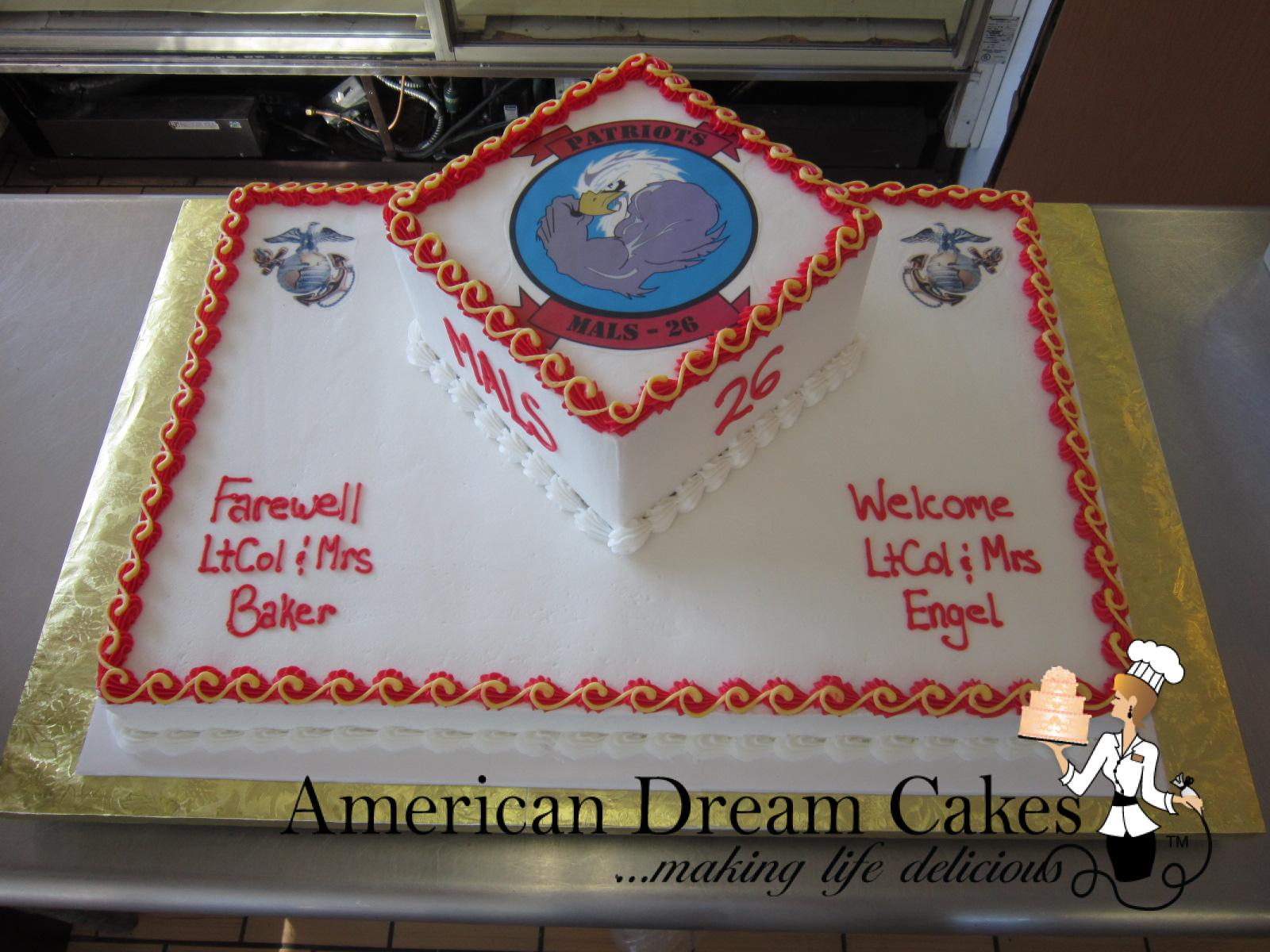 change of command cake