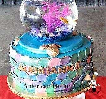 Mermaid and goldfish cake (2)