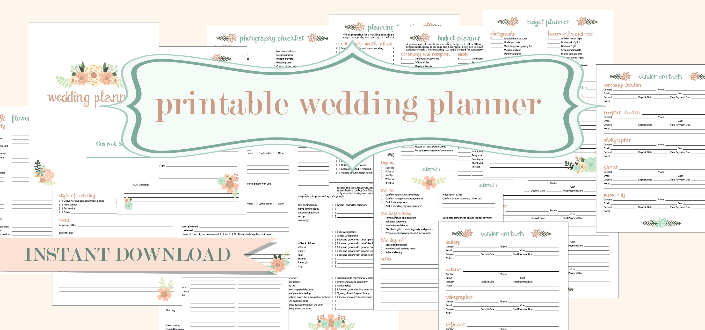 Free Printable Wedding Planner American Dream Cakes