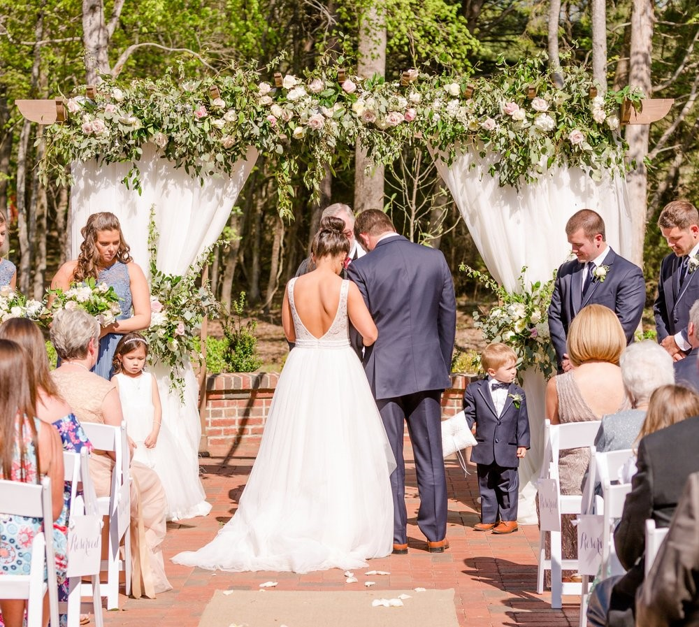 Boho outdoor ceremony in Chapel Hill, NC
