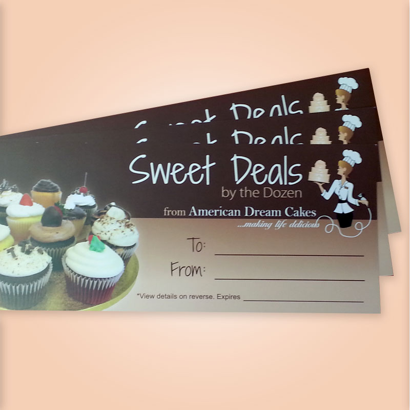 Gift Certificates - American Dream Cakes