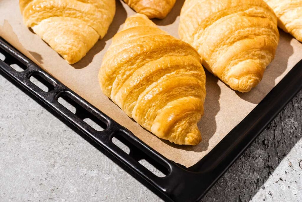 pastries on parchment paper