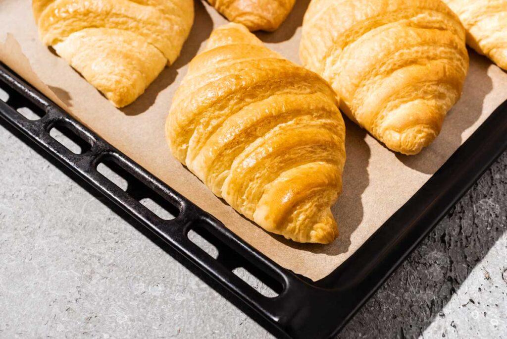 pastries on parchment paper